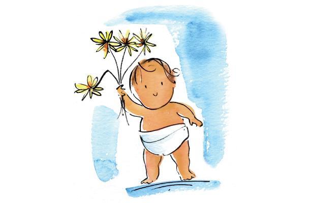 Stiletto Wheels Baby Flower