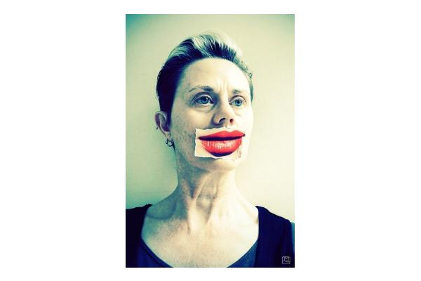 Jane McCormick: Self Portrait with Borrowed Smile