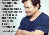 Michael J Fox on Acceptance