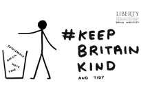 'Keep Britain Kind' Postcards by David Shrigley for Liberty. Image courtesy Liberty.