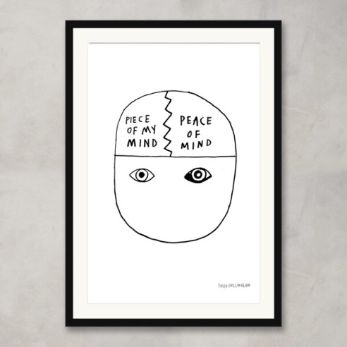 Illustration by David Shillinglaw: Piece Of Mind Limited Edition Print. In collaboration with Culture Label and Mind, the mental health charity.