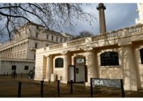 Front entrance to the ICA, The Mall, London