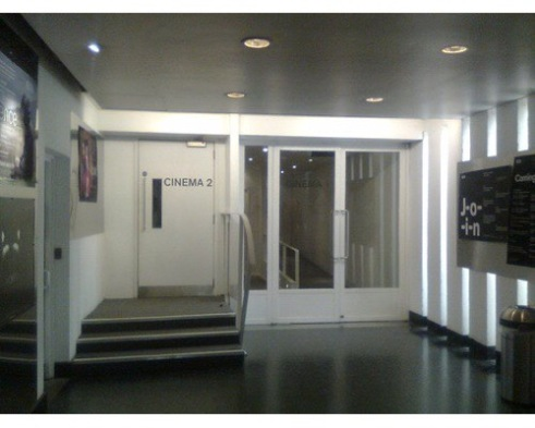 Cinema entrance, through doors on right, to the ICA, The Mall, London