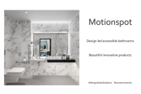 Design led accessible bathrooms by Motionspot
