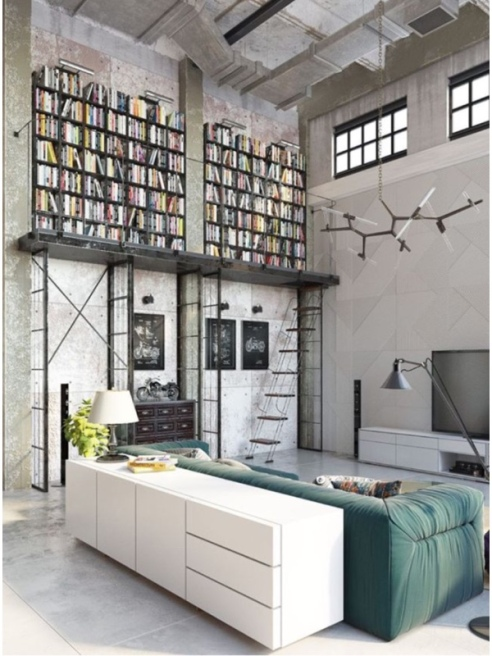 Vertical Storage idea for my Studio space. Source unknown.
