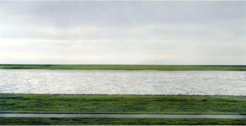 Andreas Gursky: The Rhine II 1999 © Courtesy Monika Sprueth Galerie, Koeln / VG Bild-Kunst, Bonn and DACS, London 2018