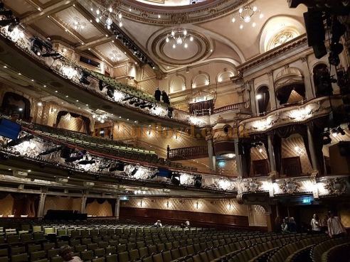 Interior of the Victoria Palace Theatre, London.