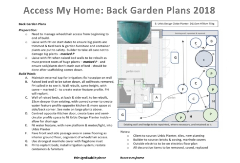 Access My Home: Back Garden Plan