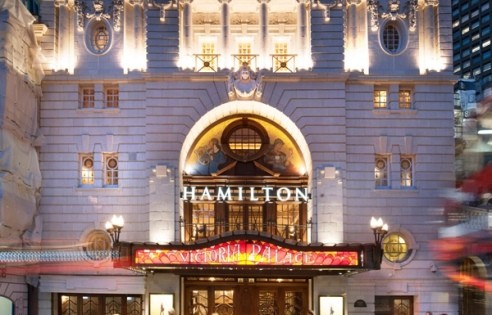 Hamilton at the Victoria Palace Theatre, London.