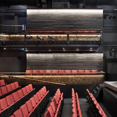 Theatre Interior, Kiln Theatre, Kilburn, London.