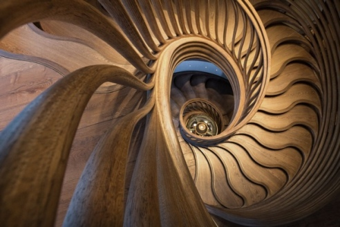 StairStalk Staircase At Hide via e-Architect. Photo credit © Phil Watson